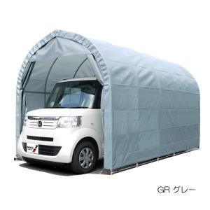 【大型便・時間指定不可】[3梱包]南栄工業 パイプ車庫 埋め込み式 軽用 2540UGR