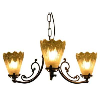 サンヨウ アンティーク照明 3灯 シャンデリア CP30AB 097