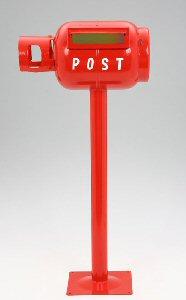 【大型便・時間指定不可】ボンベポスト 横型 赤