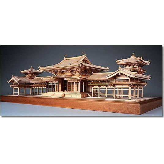 【お取寄せ】【送料無料】 ウッディジョー 木製建築模型 【1/75 平等院 鳳凰堂】レーザーカット加工