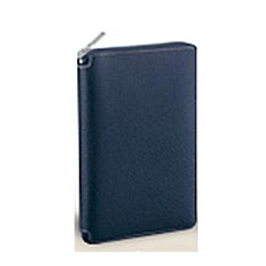 【送料無料】 レイメイ ダ・ヴィンチ グランデ ピッグスキン 聖書サイズシステム手帳 ラウンドファスナータイプ DB1402 K ネイビー