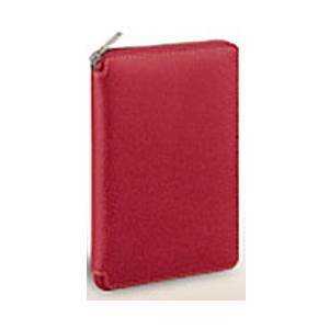 【送料無料】 レイメイ ダ・ヴィンチ グランデ ピッグスキン 聖書サイズシステム手帳 ラウンドファスナータイプ DB1402 R レッド
