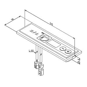 TOTO サーモスタッドバス水栓交換用部品 コントローラ THE3 TEB1型用