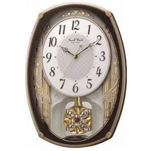 リズム時計 電波アミューズ時計 スモールワールドレジーナ 4MN540RH06
