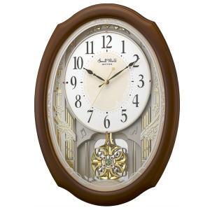 リズム時計 電波アミューズ時計 スモールワールドセレブレ 4MN541RH06