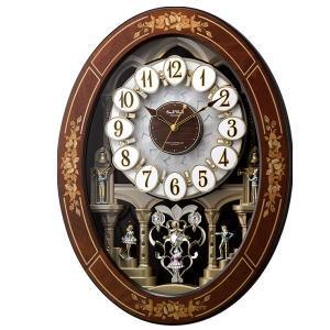 リズム時計 電波からくり時計 スモールワールドレガロ 4MN546RH06