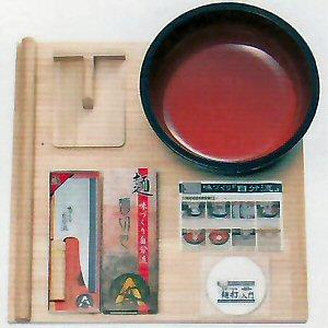 日本全国 送料無料 入門用麺打ちセットの廉価版 A-1230 豊稔企販 麺打入門DVD付 家庭用麺打セットA そば打ちセット 有名な