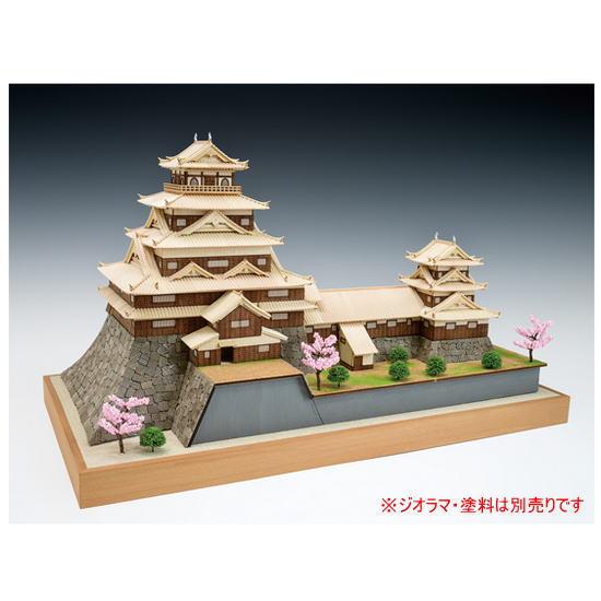 ウッディジョー 木製建築模型 1/150 広島城