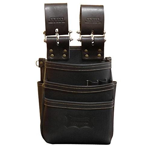 ニックス 総ヌメ革チェーンタイプ3段腰袋 ブラック KBS-301DDX