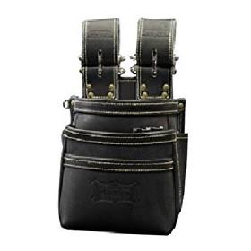 ニックス 最高級硬式グローブ革チェーンタイプ3段腰袋 ブラック KGB-301DDX