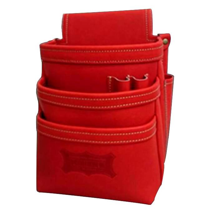 ニックス 最高級硬式グローブ革3段腰袋 レッド KGR-301DD