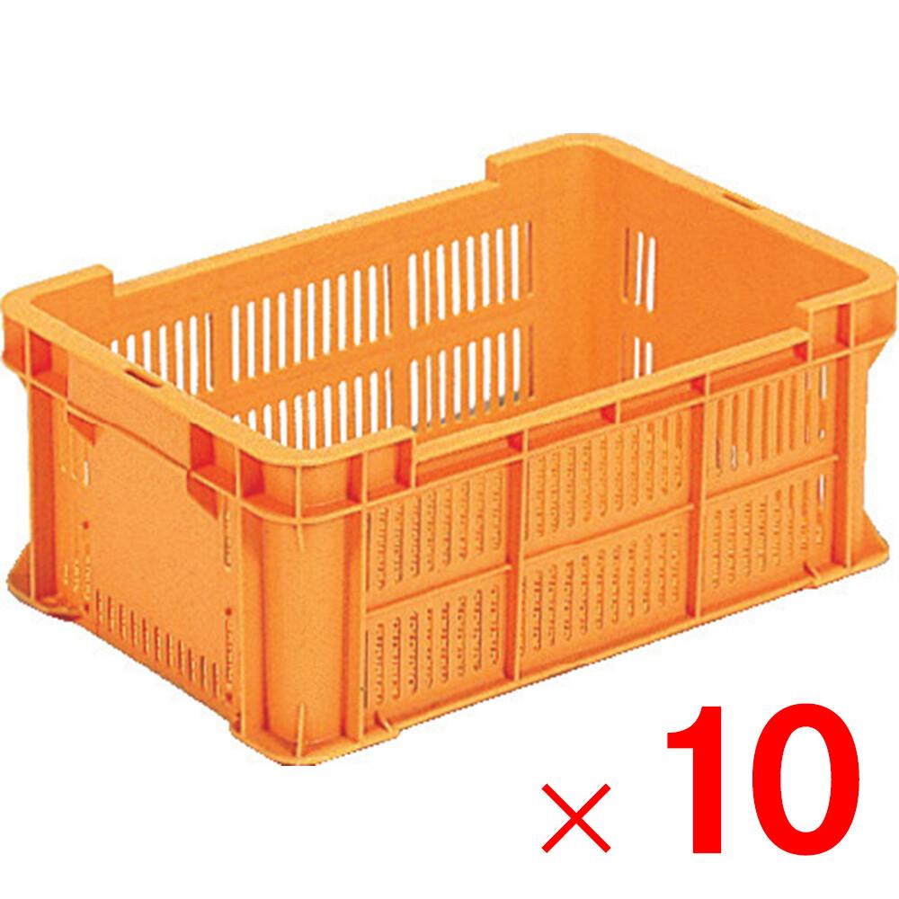 【メーカー直送 代引不可】サンコー サンテナーB#21 オレンジ 10個 102101 セット販売