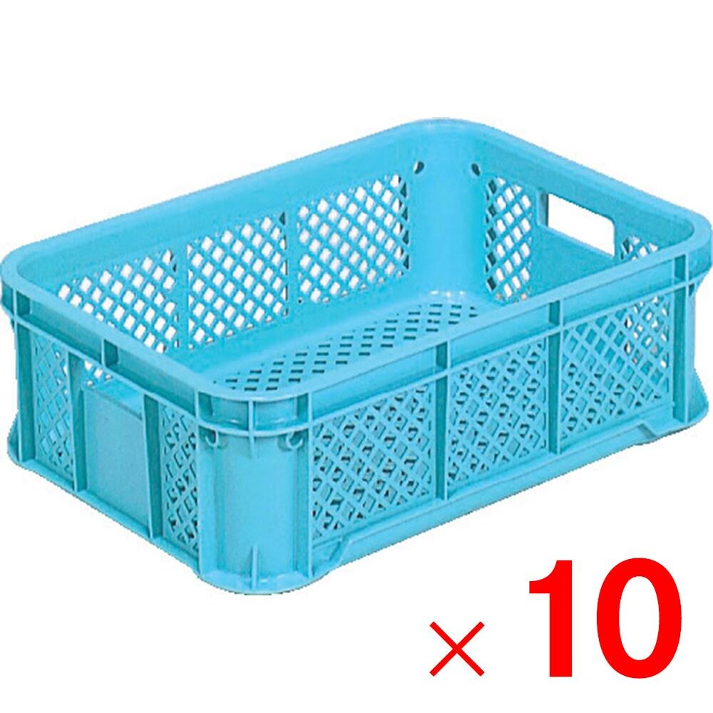 【メーカー直送 代引不可】サンコー サンテナーB#25 ライトブルー 10個 102401 セット販売