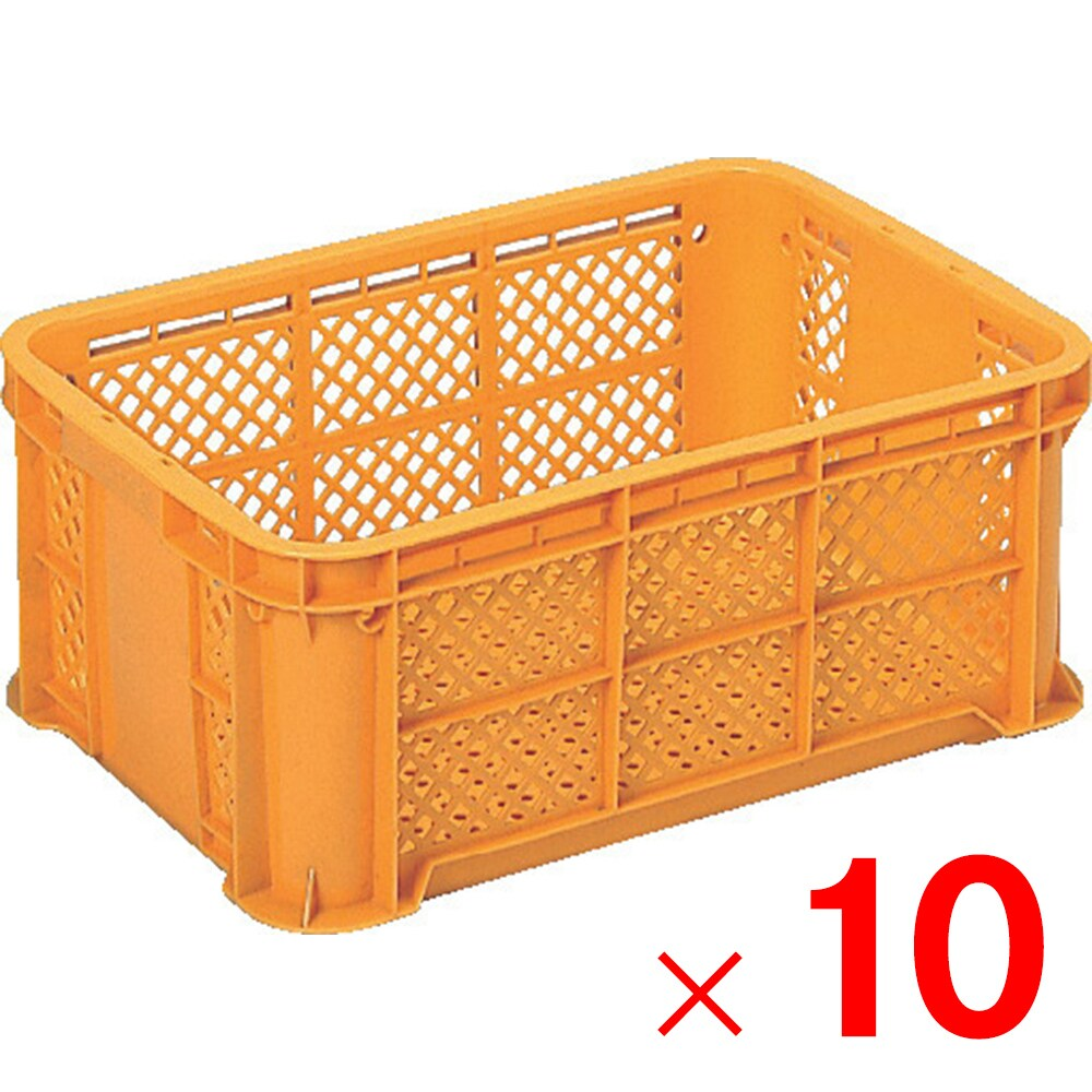 【メーカー直送 代引不可】サンコー サンテナーB#25-3 オレンジ 10個 103101 セット販売