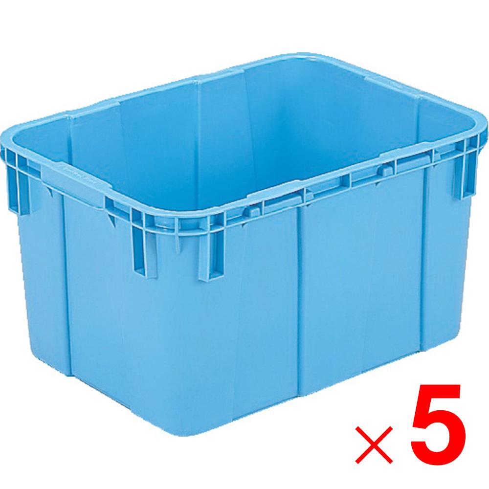 【メーカー直送 代引不可】サンコー サンバケット#90N 水抜孔無し 分別回収容器 ブルー 5個 209110 セット販売