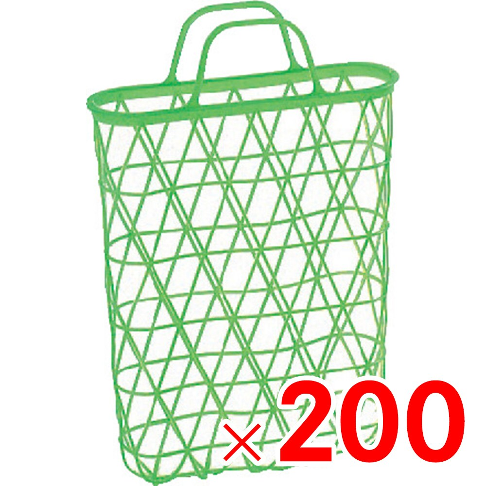 【メーカー直送 代引不可】サンコー 手提篭 リンゴ篭 グリーン 200個 500602 セット販売