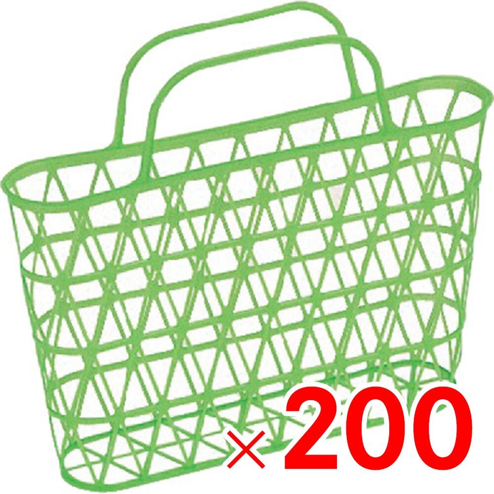 【メーカー直送 代引不可】サンコー 手提篭 小-2 グリーン 200個 500301 セット販売