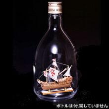 ウッディジョー 木製帆船模型 ボトルシップ サンタマリア [レーザーカット加工]