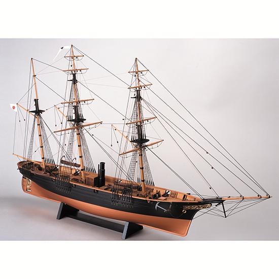 ウッディジョー 木製帆船模型 1/75 咸臨丸[帆無し]レーザーカット加工