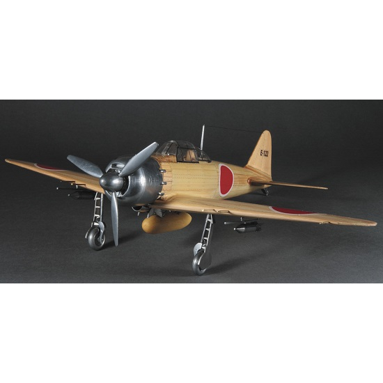 ウッディジョー 木製飛行機模型 【1/24 零戦】 零式艦上戦闘機 52丙型 [レーザーカット加工]