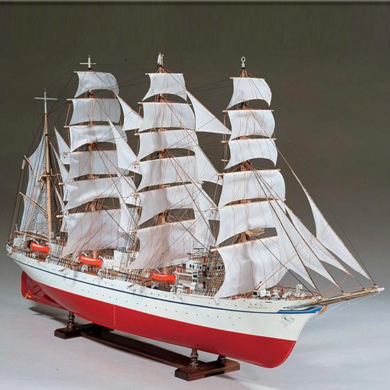 ウッディジョー 木製帆船模型 1/80 日本丸 レーザーカット加工