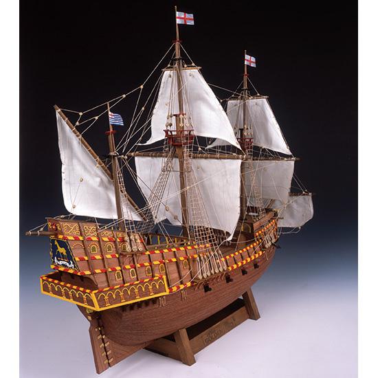 ウッディジョー 木製帆船模型 1/50 ゴールデンハインド レーザーカット加工
