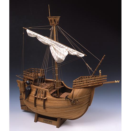 ウッディジョー 木製帆船模型 1/30 カタロニア船 レーザーカット加工