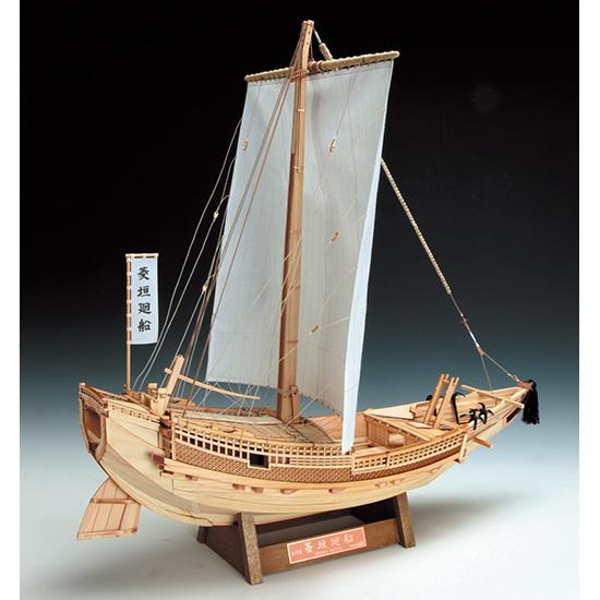 ウッディジョー 木製帆船模型 1/72 菱垣廻船 レーザーカット加工