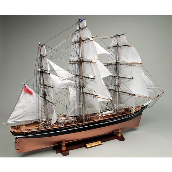 ウッディジョー 木製帆船模型 1/80 カティサーク [帆付] レーザーカット加工