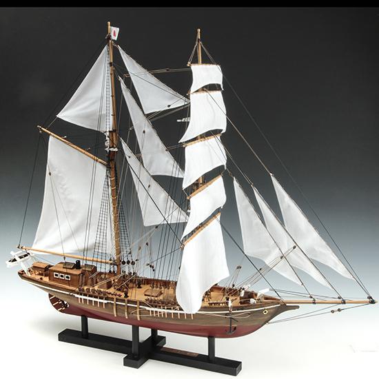ウッディジョー 木製帆船模型 1/70 忍路丸[おしょろまる] 改良版