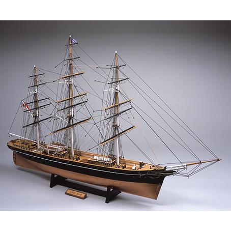 ウッディジョー 木製帆船模型 1/100 カティサーク [帆無し] レーザーカット加工