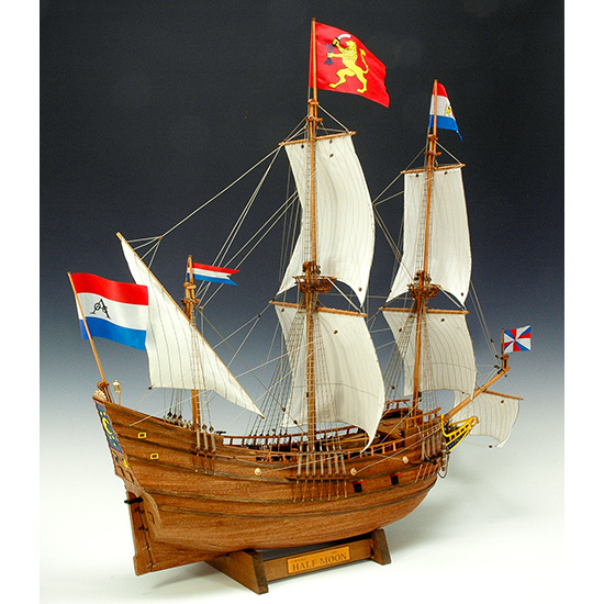 ウッディジョー 木製帆船模型 1/40 ハーフムーン