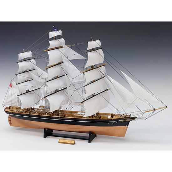 ウッディジョー 木製帆船模型 1/100 カティサーク [帆付き] レーザーカット加工