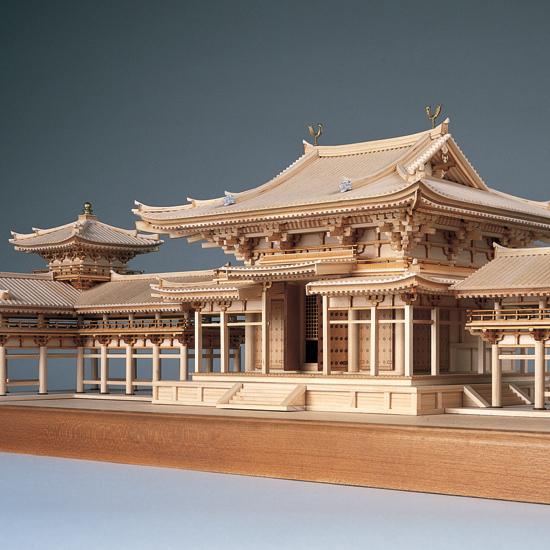 ウッディジョー 木製建築模型 【1/75 平等院 鳳凰堂】レーザーカット加工