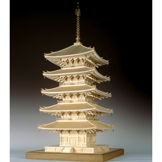 ウッディジョー 木製建築模型 【1/75 興福寺 五重塔】レーザーカット加工
