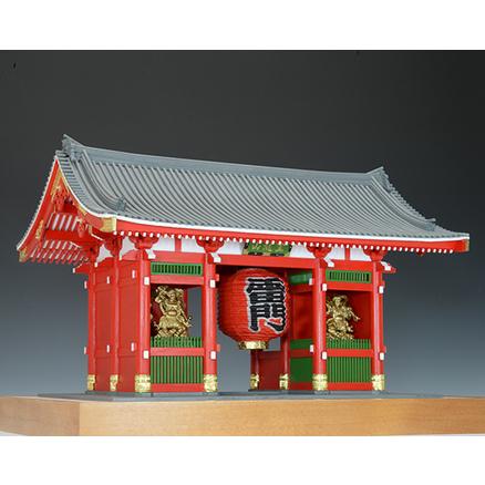 ウッディジョー 木製建築模型 1/50 浅草寺 雷門 塗装タイプ レーザーカット加工