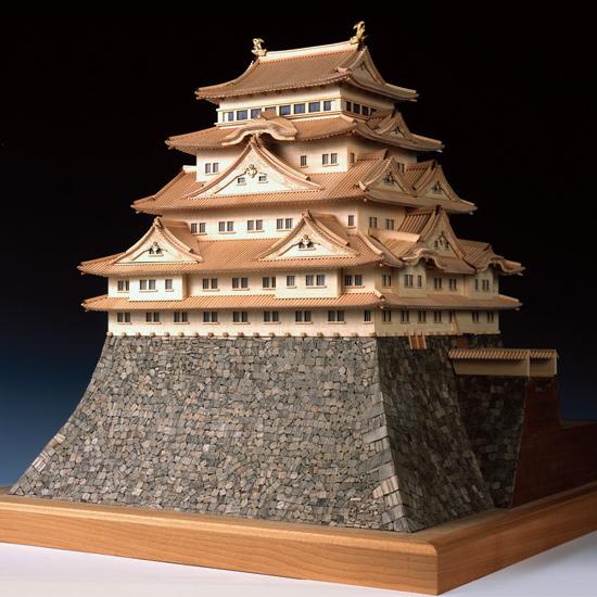 ウッディジョー 木製建築模型 【1/150 名古屋城】レーザーカット加工