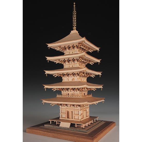 ウッディジョー 木製建築模型 【1/75 瑠璃光寺 五重塔】レーザーカット加工