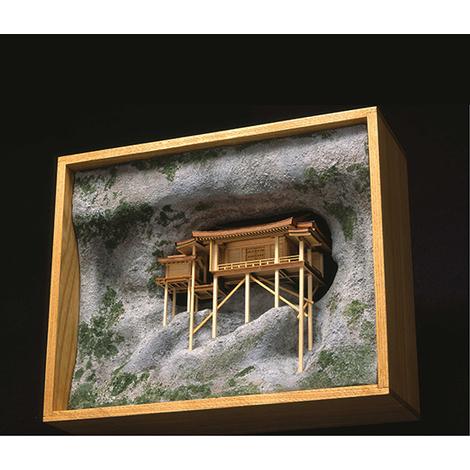 ウッディジョー 木製建築模型 1/75 国宝 三徳山 三佛寺 投入堂 レーザーカット加工