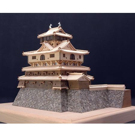ウッディジョー 木製建築模型 1/150 岩国城 レーザーカット加工