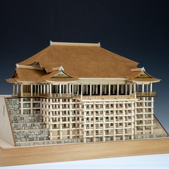 ウッディジョー 木製建築模型 1/150 清水寺