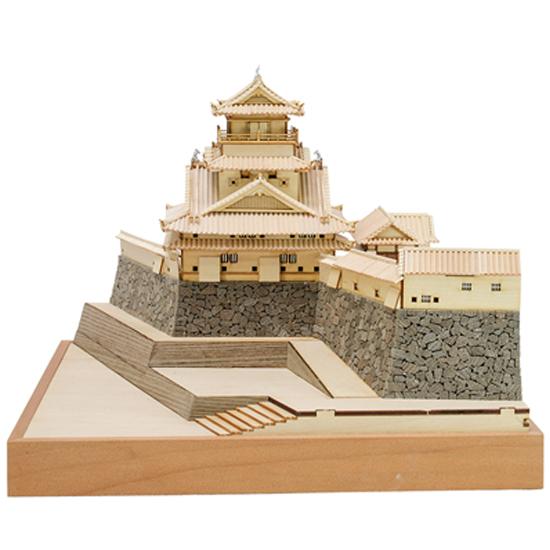 ウッディジョー 木製建築模型 1/150 高知城