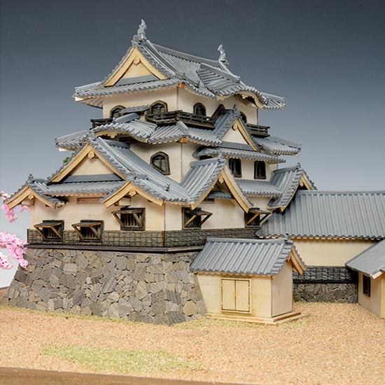 ウッディジョー 木製建築模型 1/150 彦根城