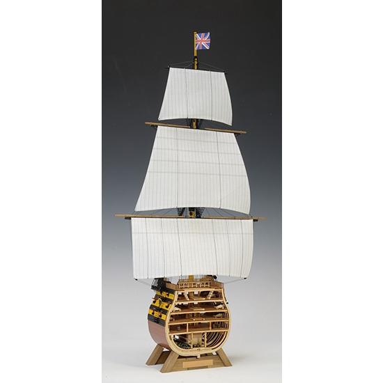ウッディジョー 木造帆船模型 1/160 ビクトリー カットモデル 帆付