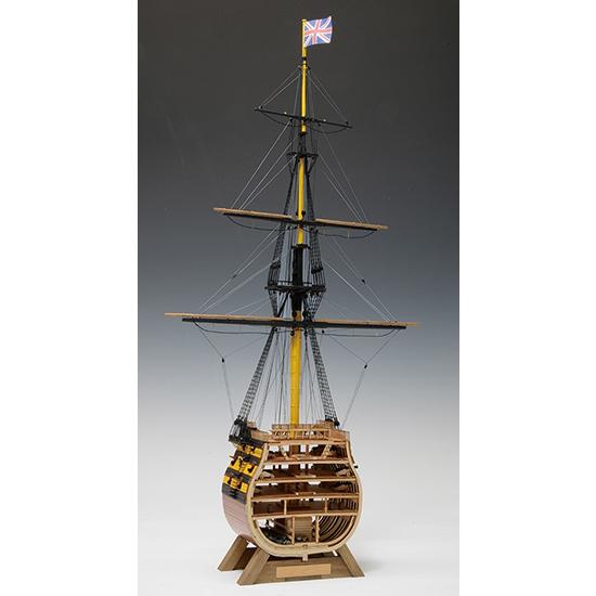 ウッディジョー 木造帆船模型 1/160 ビクトリー カットモデル 帆無