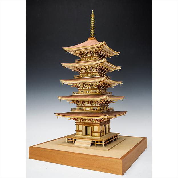 ウッディジョー 木製建築模型1/75 羽黒山五重塔