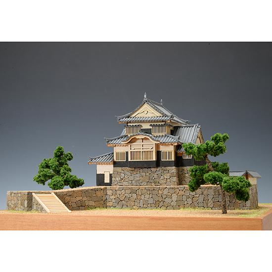 ウッディジョー 木製建築模型 1/150 備中松山城