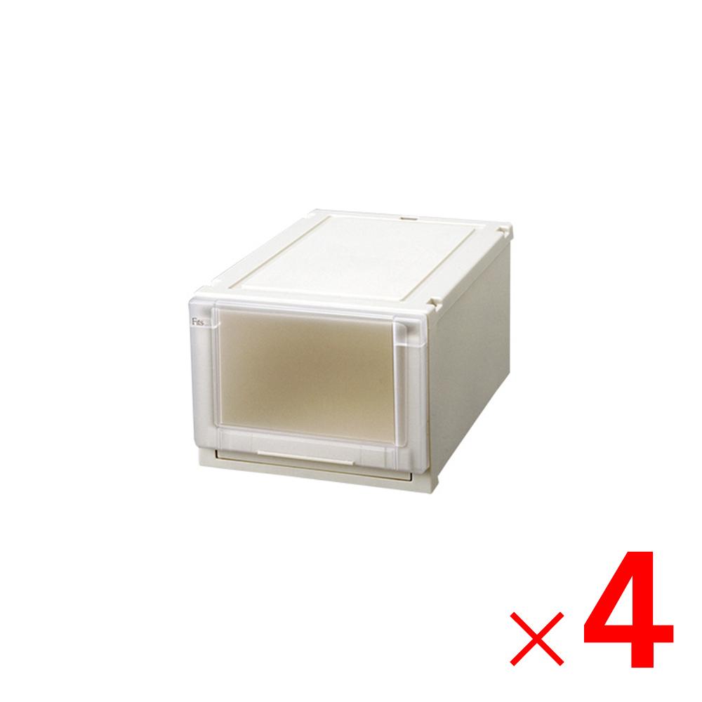 【大型便・時間指定不可】天馬 Fits フィッツユニットケース カプチーノ 3525 幅35cm×4個 ケース販売