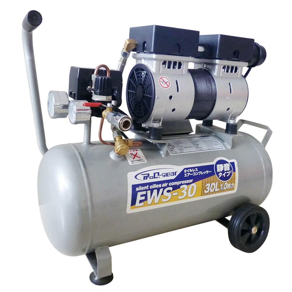 【メーカー直送 代引不可】シンセイ 静音オイルレスコンプレッサー38L EWS-38