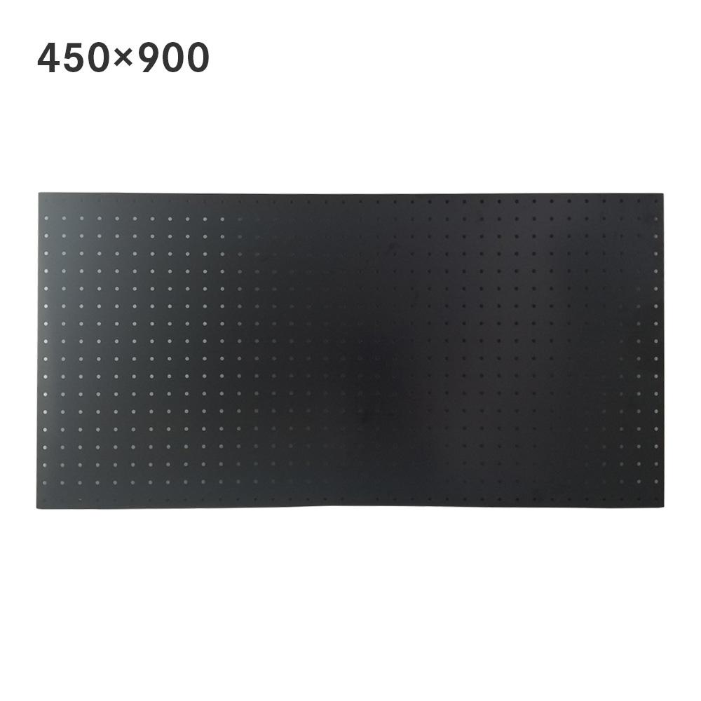 サンカ スチールパンチングボード 450×900mm ブラック 有孔ボード 60002